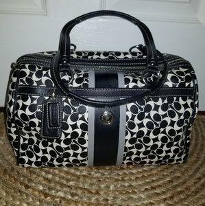 Black and white Coach handbag